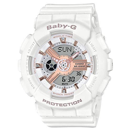 CASIO Damen Analog-Digital Quarz Uhr mit Harz Armband BA-110RG-7AER