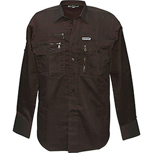 CI Traveller Hemd mit vielen Taschen Outdoorhemd Reisehemd Freizeitshirt verschiedene Ausführungen (XL, Braun) (Bdu Braun Shirt)