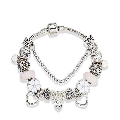 Argent FENICAL 20pcs Alliage Plume pendentifs Breloques Collier Bricolage Bracelet Fabrication de Bijoux Accessoires