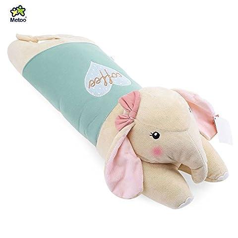 Stuffed Elephant Plush Doll Toy Cushion Pillow Christmas Gift (Light Green)