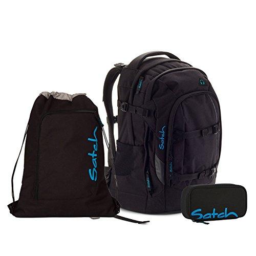 Satch Pack Black Bounce Schulrucksack Set 3tlg.