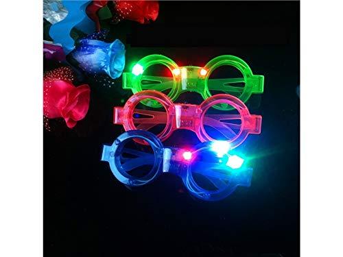 FERFERFERWON Kreativ Glow Kreis Form Gläser Weihnachtsschmuck Glasrahmen Abendgesellschaft Spielzeug Dekoration (zufällig) für das Festival