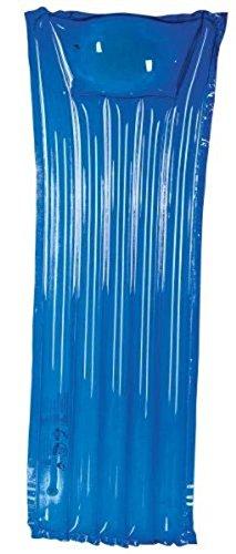 Matratze / Liegematratze frei von Phthalaten gemäß Richtlinie 2005/84/EG - Größe aufgeblasen: ca. 168 x 67 cm, Nur für Schwimmer! Kein Schutz gegen Ertrinken (blau)