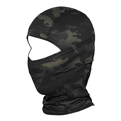 WTACTFUL Camouflage Cover Balaclava Hood Ninja Outdoor Cycling Motorcycle Hiking Climbing Hunting Helmet liner Gear Full Face Mask for Summer Sports SP-01