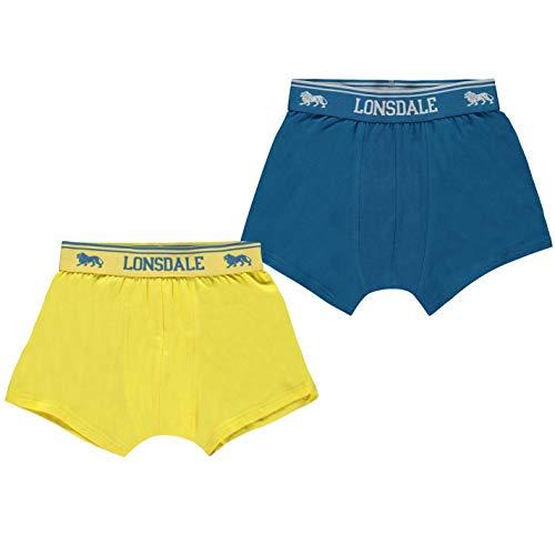 Lonsdale - Pantalón Corto - niño Lila Square X-Large b91e33ed99d1