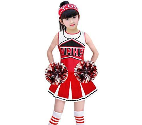Cheerleading-Kostüm für Kinder, Kinder Akademisches Kleid Grundschule Uniformen Set Kid Student Girl,170CM