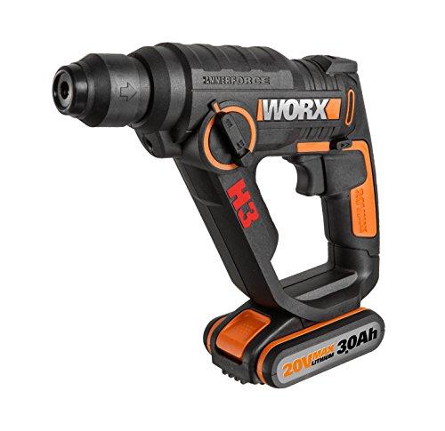 Worx wx390.31martillo neumático H3-3in 1, 20V, Negro
