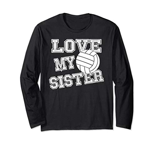 I Love My Sister Volleyball Brother & Sister Volleyball Langarmshirt
