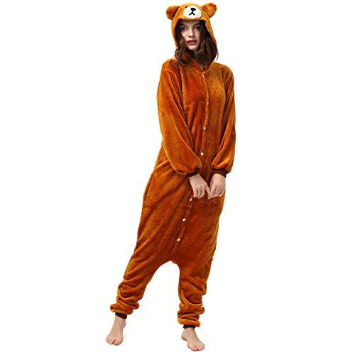 Katara 1744 (30+ Designs) Bären-Kostüm Teddy, Unisex Onesie/ Pyjama-Qualität für Erwachsene & Teenager