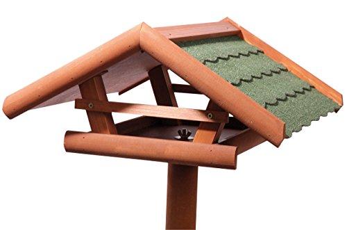 dobar-49002-vogelhaus-panorama-mit-gruenen-bitumdachschindeln-inklusive-staender-3