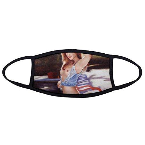 Nude Big Brust weiß Spitze Unterwäsche Sexy Lady Design Ölgemälde Face Anti-Staub Maske Anti Kalten Maske Geschenk