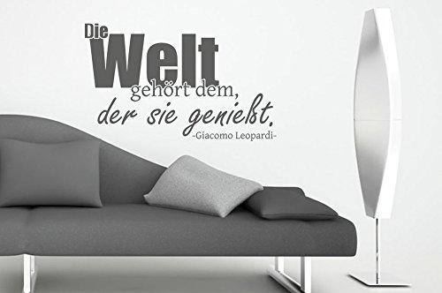 ... Wandtattoo Die Welt Gehört Dem, Der Sie Genießt Nr 3 Wanddeko  Wanddekoration Deko Ideen Wandsticker ...