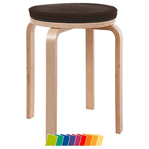 Gymnastikhocker aus Holz inkl. Sitzkissen aus Kunstleder Sitzpolster