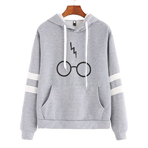 50e3c35b972f supreme printed hoodies. Womens Casual Pullover Hooded Glasses Lightning  Printed Sports Solid Color Sweatershirt