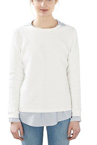 edc by Esprit, Sweat-Shirt Femme Blanc (Off White)