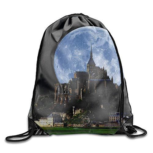 Moon Drawstring Drawstring Backpack for Teens ()