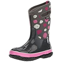 Bogs Classic High Waterproof Insulated Rubber Neoprene Rain Boot Snow, Sketched Dots Print/Dark Gray/Multi, 13 M US Little Kid
