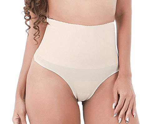 Donna intimo modellante guaina contenitiva a vita alta mutande pantaloncini thong shapewear dimagrante nudo l