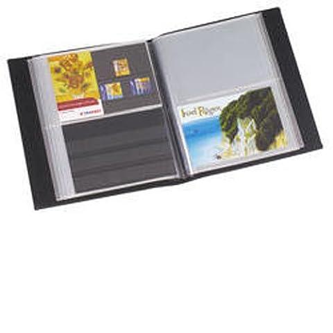 Leuchtturm Album Cartes Postales pour 50 Pochettes transparentes, bleu