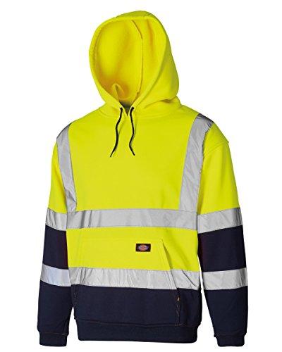 Dickies Mens Workwear Hallo Sichtbarkeit Sweatshirt Two Tone Hoodie XX-Large Gelb/Navy -