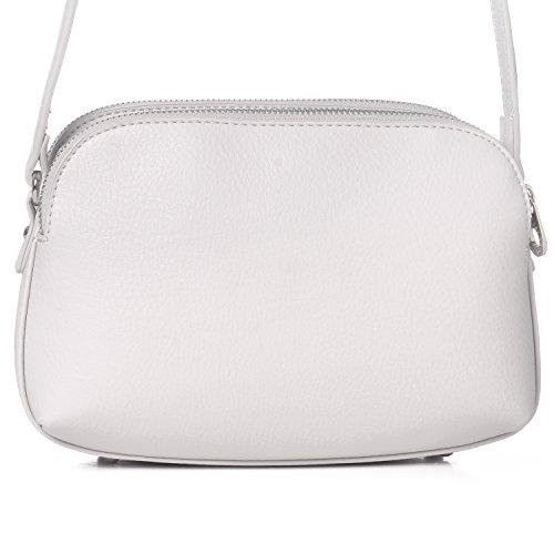 8131376ac62fe ... David Jones - Damen Mittelgroße Umhängetasche Viele Taschen Tasche -  Satteltasche Basic Schultertasche - Kunstleder Reißverschluss ...