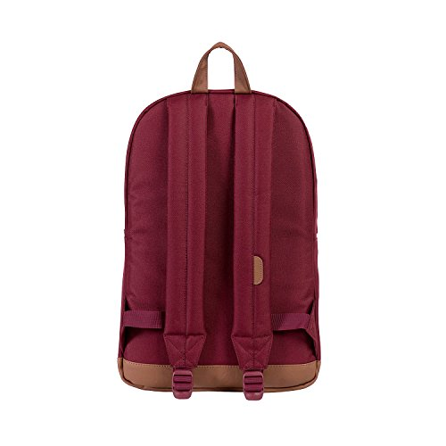 Herschel 10011-00001  Pop Quiz Backpack Rucksack, 1 Liter, Schwarz/Tan Windsor Wine/Tan