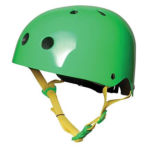 Kiddimoto KMH035M - Fahrrad Skater Helm für Kinder neon grün, Gr.M (5-14 Jahre)