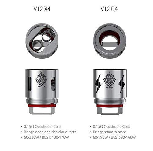Famille de têtes de bobine SMOK TFV12 V12-T12 V12-T6 V12-Q4 V12-X4 V12-T8 Bobines de rechange pour le réservoir TFV12 Cloud Beast King 100% Original non-Nicotine-TPD conforme(Q4)