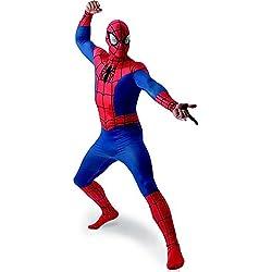 """MARVEL ~ Spider-Man - adulto del vestido de lujo del traje de licencia Con separada Redecilla Nuevo 2015 Tamaño X-Large (Pecho 42-46 """")"""