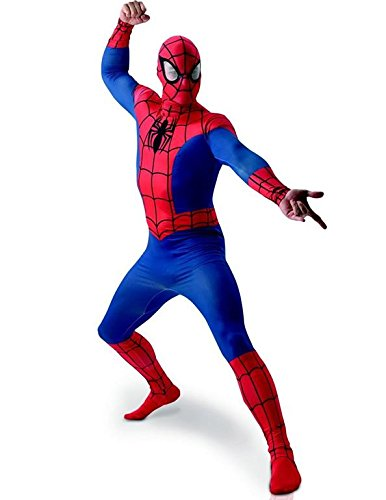 Rubie's 3810362 - Spiderman Deluxe Adult, XL, blau/rot