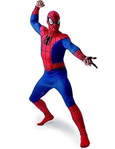 """MARVEL ~ Spider-Man - adulto del vestido de lujo del traje de licencia Con separada Redecilla Nuevo 2015 Tamaño X-Large (Pecho 42-46"""")"""
