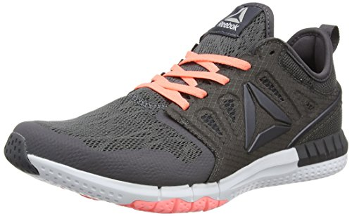 Reebok Women's Zprint 3d Competition Running Shoes, Grey (Ash Grey/Sour Melon/White/Pewter), 6.5...