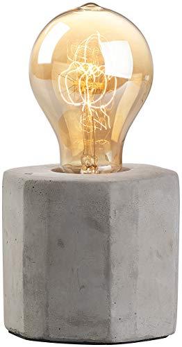 Lunartec Deko-Tischlampe: Dekorative Beton-Tischleuchte mit gewölbter Vintage-Schmucklampe (Lampen Beton)