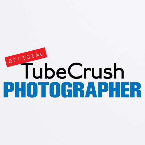 Tube Crush Photographer T-Shirt, Herren Wei