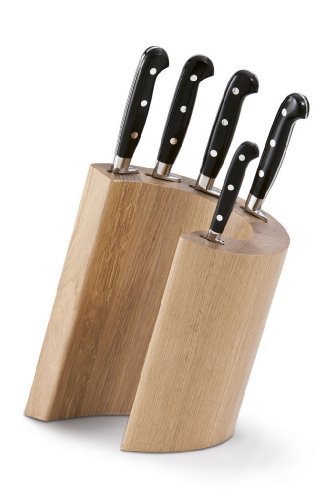 Berkel - Messerblock mit Messer-Set (5 Messer mit Nieten, Griffe aus Kunstharz), Block aus Eichenholz