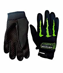 One-Stop-Shop - Monster Motorcycle Hand Gloves (Black)