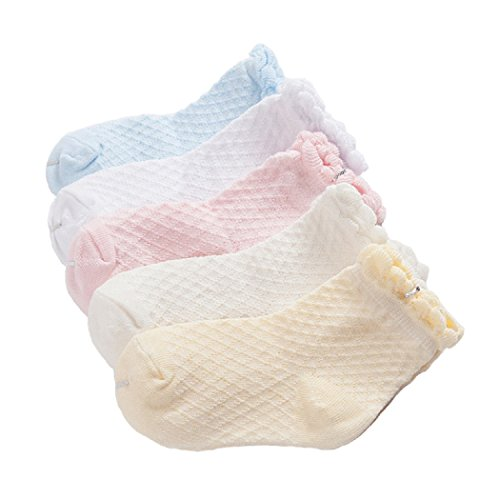 Calcetines Niñas Diseño Calcetines Finos De encaje Algodón Cómodo Respirable Lindo Malla...