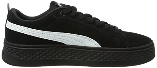 Puma Damen Smash Platform Sd Sneaker Schwarz (puma Nero-puma Bianco)