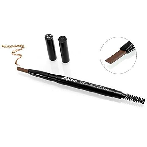 HKFV Kosmetik Make-up Doppel Automatische Rotation Augenbrauen Kajalstift -Werkzeug (schwarz) (Augenbraue-formen Stencils)
