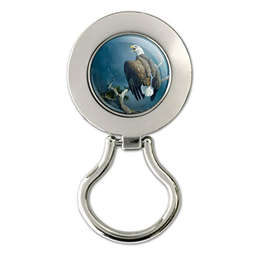 Bald Eagle Nest Raptor magnetisch Metall Schlüsselanhängerform ID Badge Holder