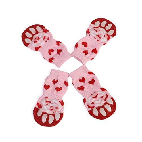 Ndier Lindo patrón de Calcetines para Mascotas Puro Suave algodón Perros Gatos Calcetines Interior del Piso