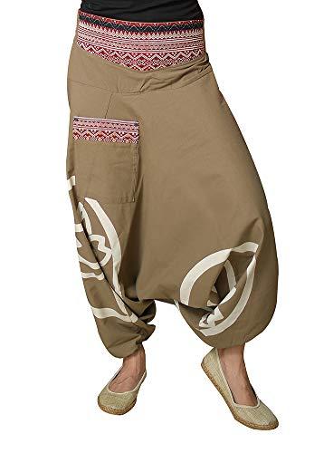 virblatt – Haremshose Damen Hippie Kleidung Pumphose Damen Pluderhose Damen – Besonders tk SM
