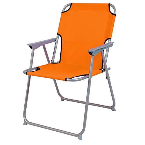 Praktisch und Gut. Campingstuhl Faltstuhl Stoff Orange Camping-Klappstuhl Anglerstuhl Regiestuhl Angelstuhl Metall -