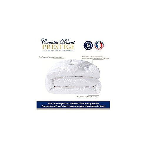 CALINUIT Couette Duvet Luxe 240*260 cm 80% Duvet 20% Plumettes Pas Chère Fabrique en France
