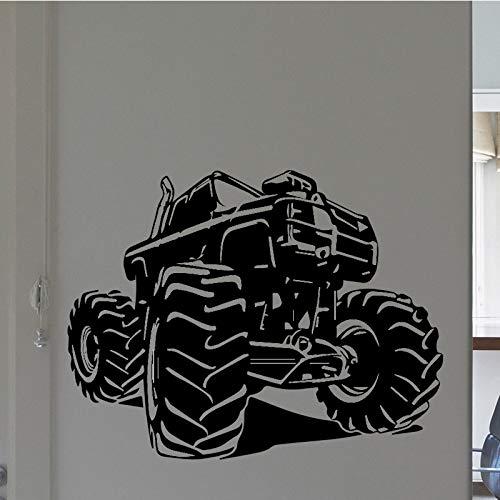 Lustige monster truck pvc wandtattoos einrichtungsgegenstände für kinderzimmer dekoration diy pvc dekoration zubehör 58 * 83 cm