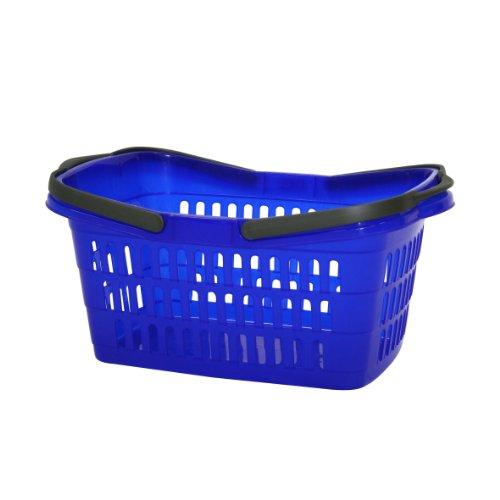 Axentia Wäschekorb, robuster Wäschesammler mit Tragegriffen, leicht zu reinigen, für Haushalt und Garten, Aufbewahrungskorb farblich sortiert, Maße: 60 x 38 x 25 cm, 35 l Volumen