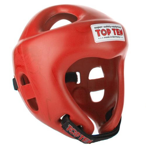 TopTen Competition Fight - Casco Unisex, Unisex Adulto, Color Rojo, tamaño L 59-64 cm
