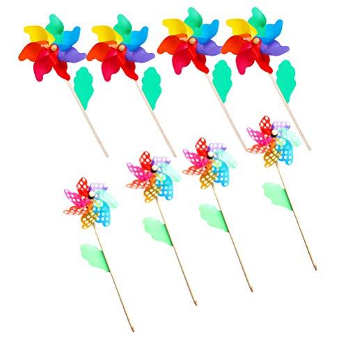 �hle mit Holzgriff Windräder Kinder Handwerk Garten Party Spielzeug Festival Gartendeko für Draußen Blumenkübeln und Beeten ()