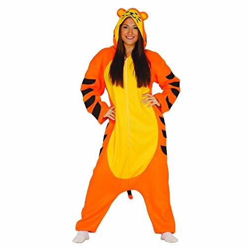 Imagen de mono tigre disfraz de tigre l 42/44 traje integral felino grande vestimenta felina tigresa overol gato salvaje atuendo entero animal