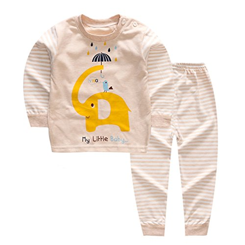 Yanwang bambina 100% cotone pajamas set maniche lunghe sleepwear tag65 (3-4 anni) reticolo 5
